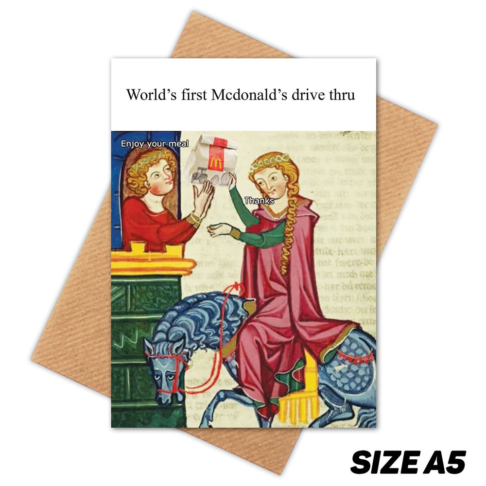MCDONALD'S MEDIEVAL MEME HAPPY BIRTHDAY CARD