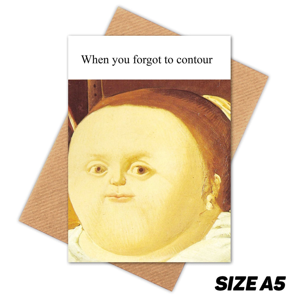 CONTOUR MEDIEVAL MEME HAPPY BIRTHDAY CARD