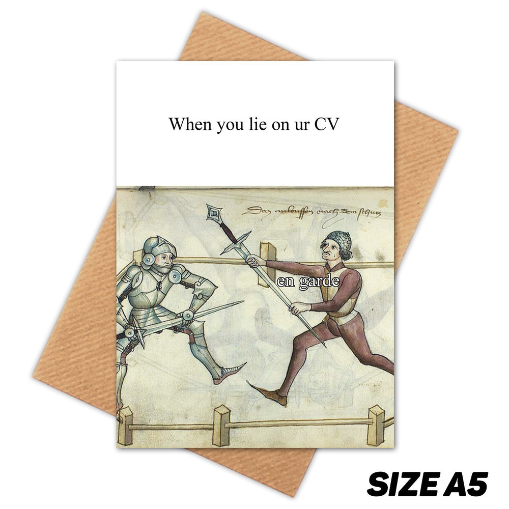 CV JOB MEDIEVAL MEME HAPPY BIRTHDAY CARD