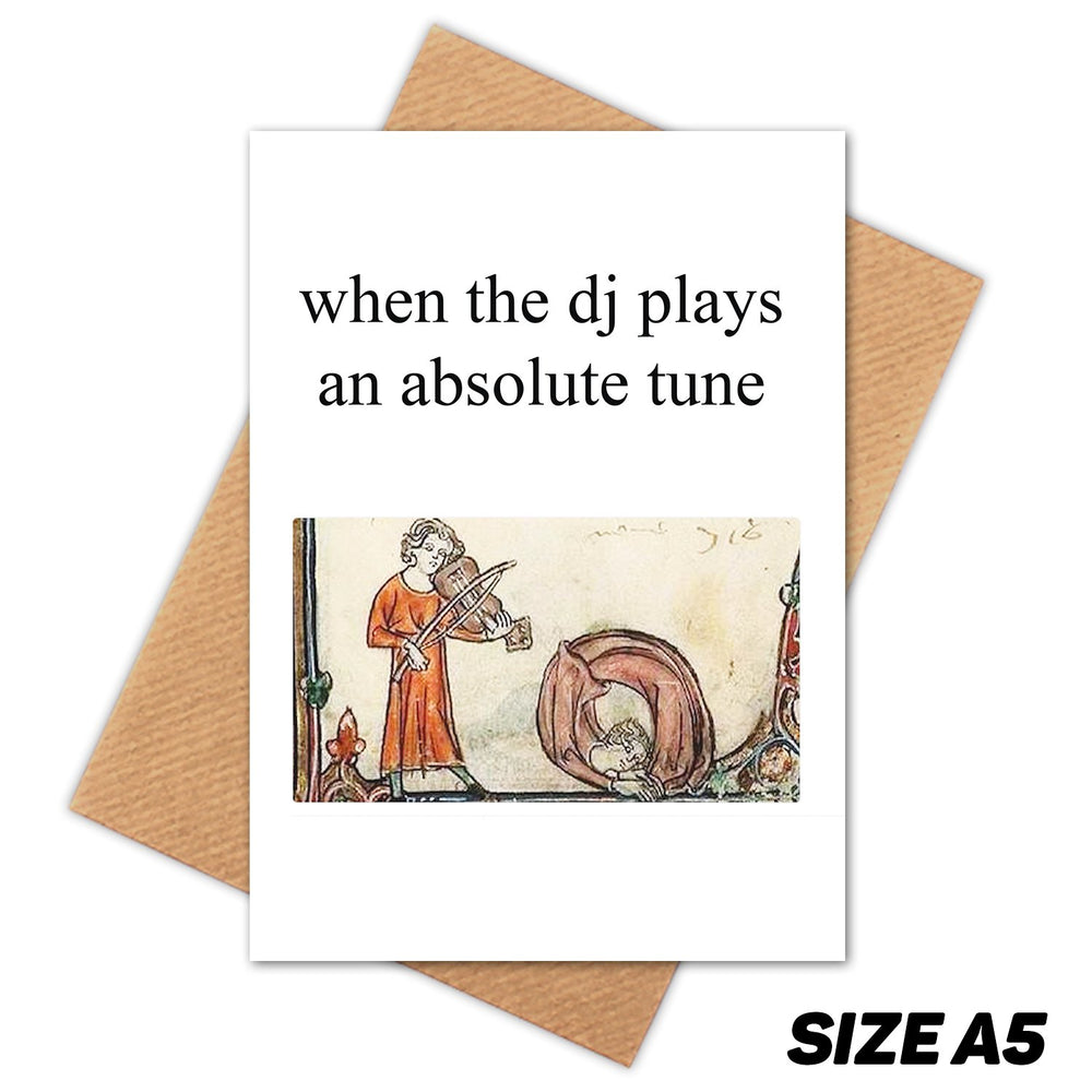DJ TUNE MEDIEVAL MEME HAPPY BIRTHDAY CARD