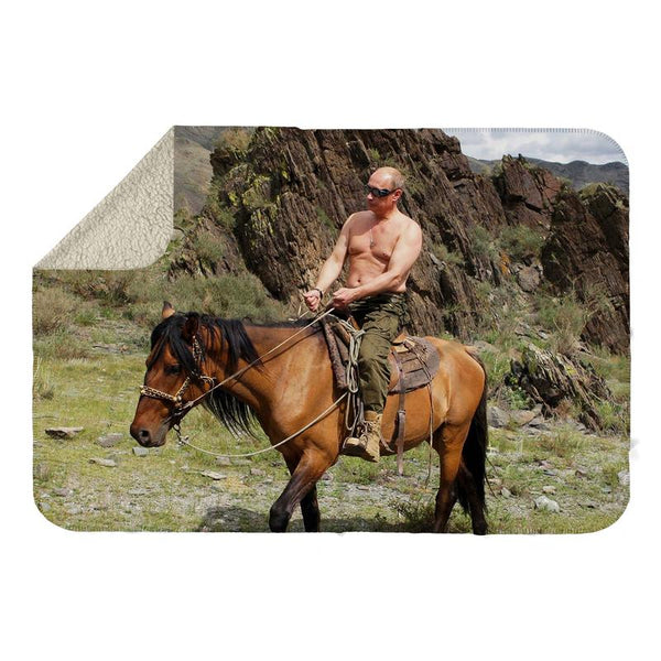 VLADIMIR ON HORSE SHERPA BLANKET
