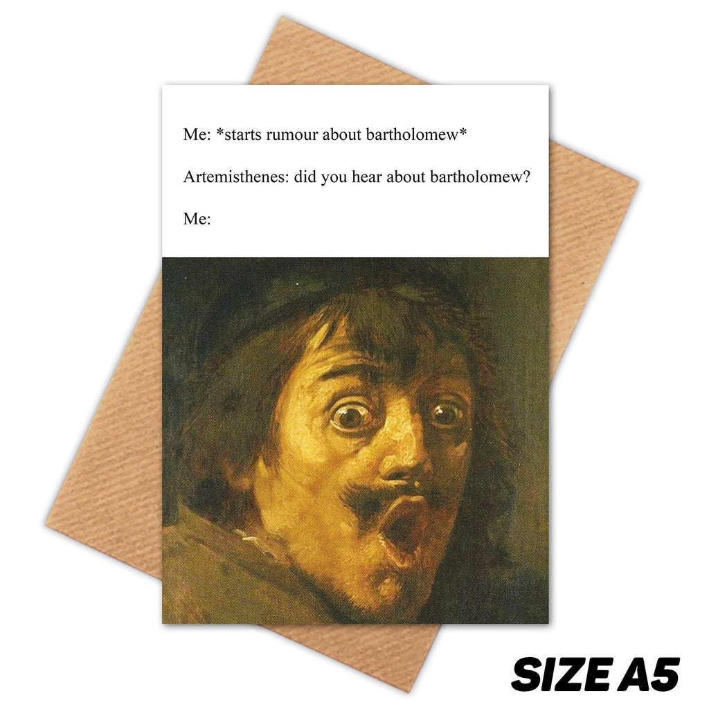 RUMORS MEDIEVAL MEME HAPPY BIRTHDAY CARD