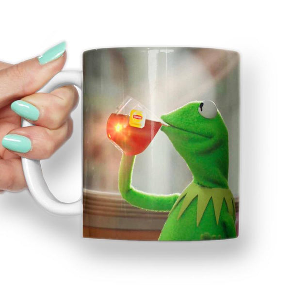 KERMIT BUT THATS NONE OF MY BUSINESS MEME MUG