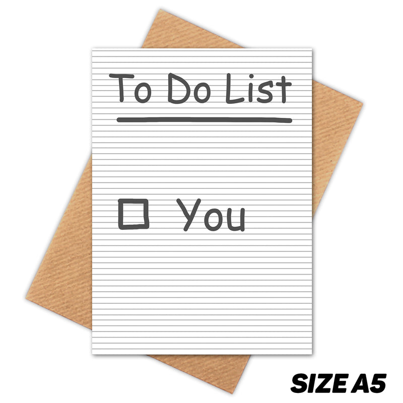 TO DO LIST HAPPY BIRTHDAY CARD