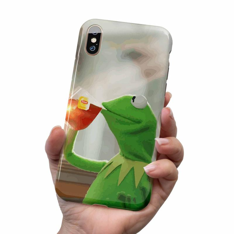 KERMIT NONE OF MY BUSINESS IPHONE AND SAMSUNG CASE