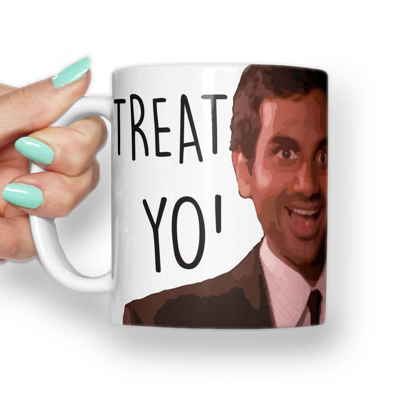 Tom Haverford, Treat Yo Self Mug