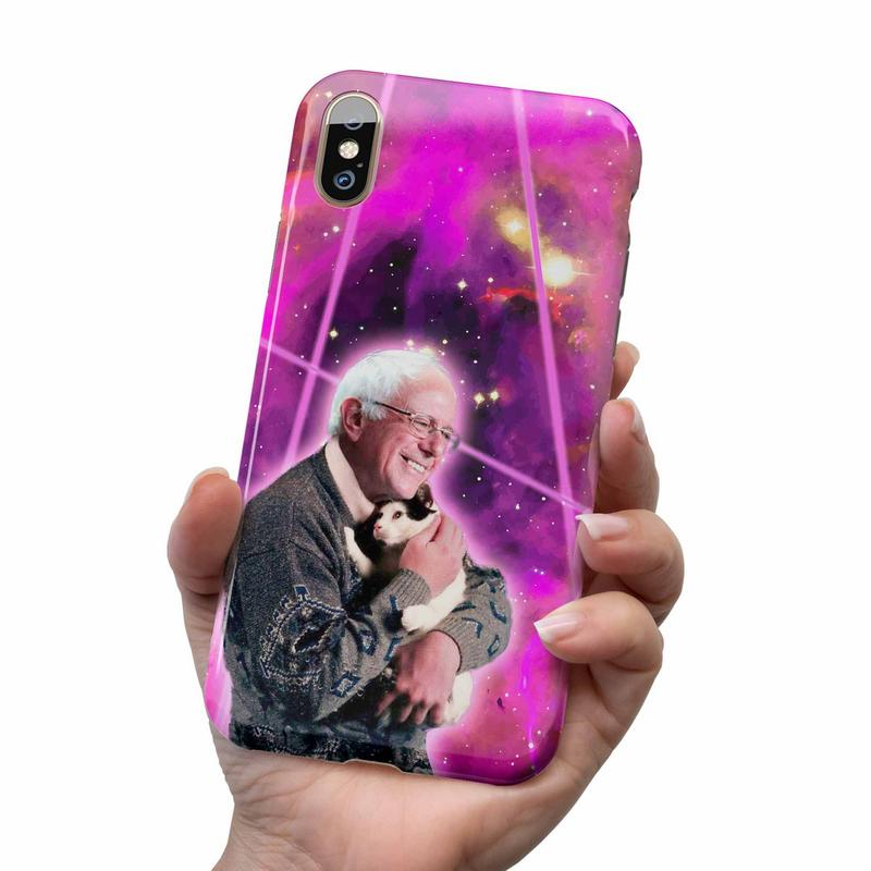 BERNIE SANDERS LASER CAT IPHONE AND SAMSUNG CASE