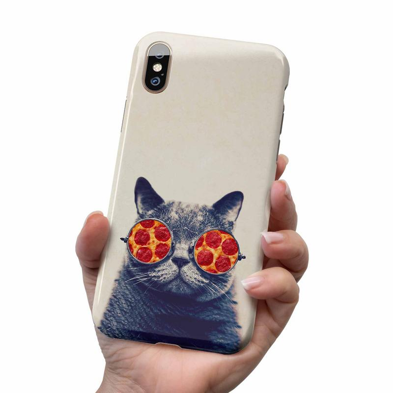 PIZZA CAT GLASSES PHONE CASE