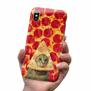 PIZZA CAT IPHONE AND SAMSUNG CASE