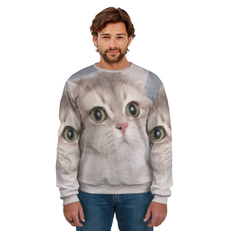 HEAVY BREATHING CAT MEME UNISEX SWEATSHIRT