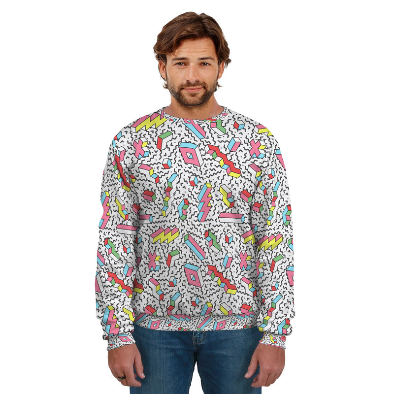 RETRO LIGHTNING UNISEX SWEATSHIRT
