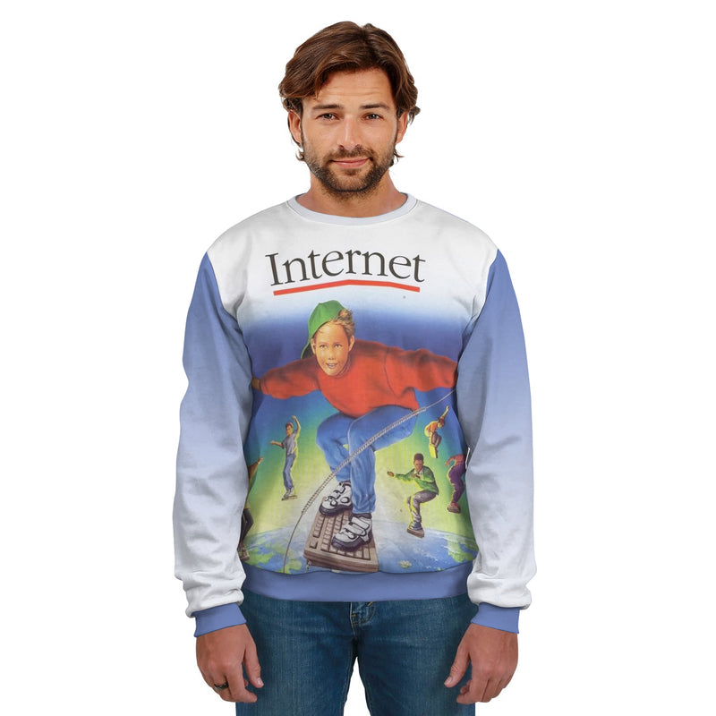 INTERNET SURFING KEYBOARD KID UNISEX SWEATSHIRT