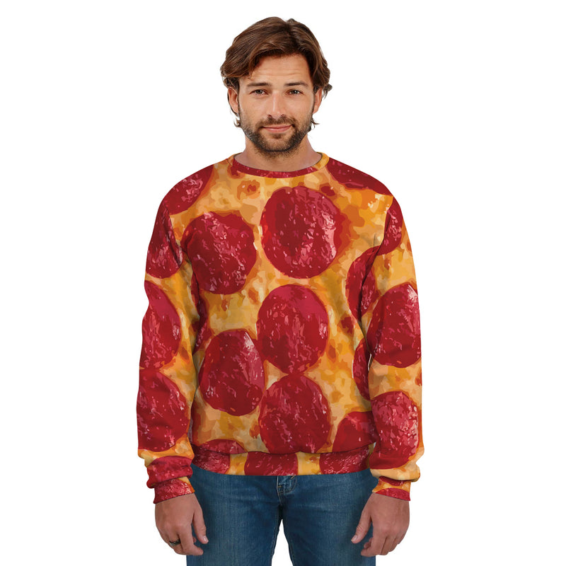 PEPPERONI PIZZA UNISEX SWEATSHIRT
