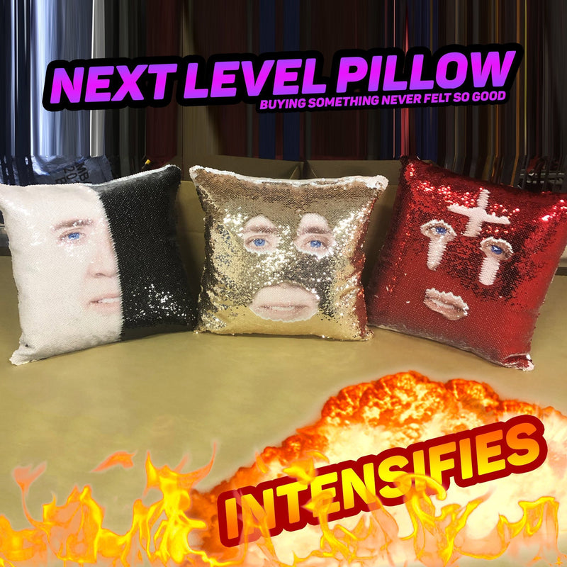 TAKESHI 69 SEQUIN PILLOW