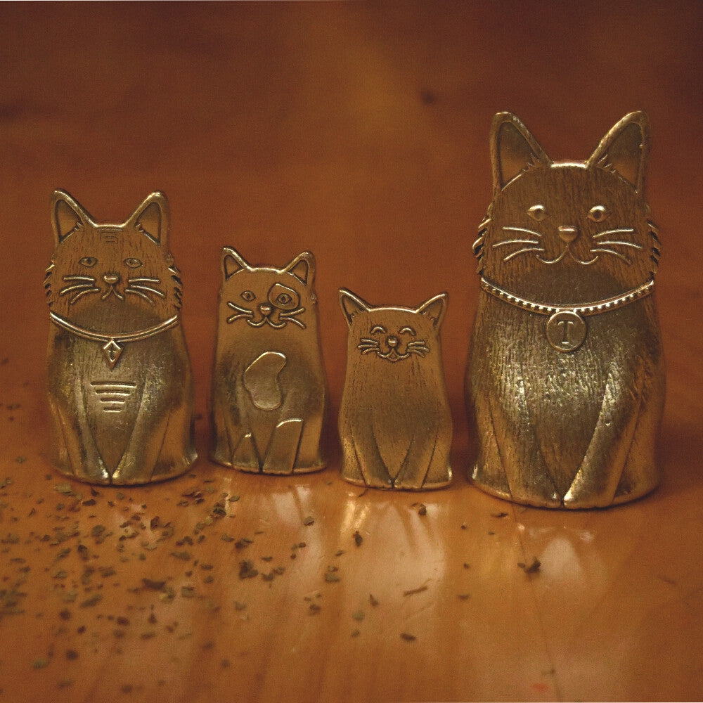 Cat Measuring Spoons- Feline Family of Pewter Spoons