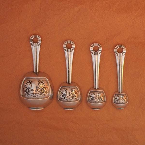 Daruma Measuring Spoons-Dharma Spoons of Luck and Perseverance