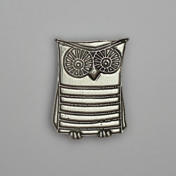 Wendel the Owl, pewter magnet