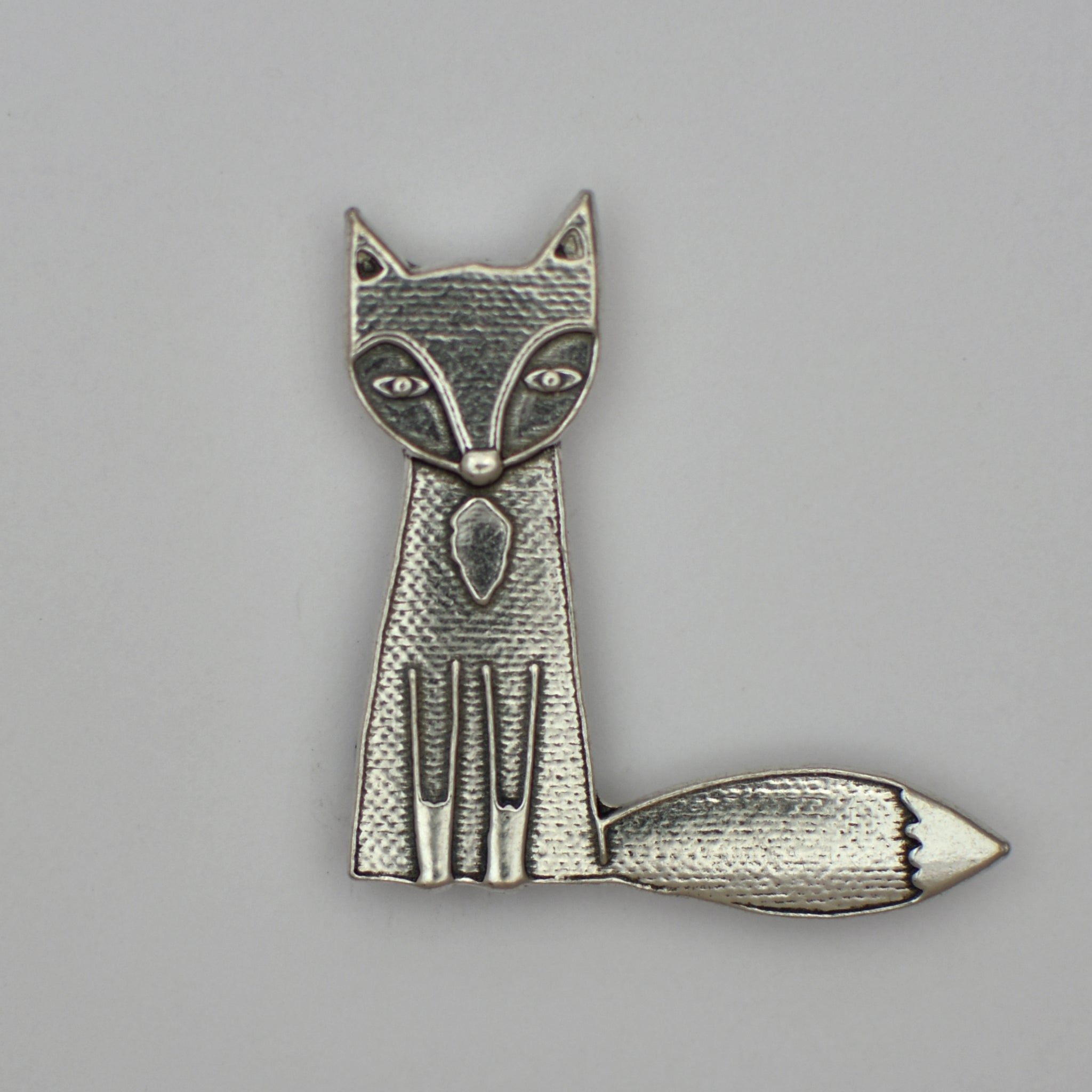 Ferdinand the Fox, pewter magnet