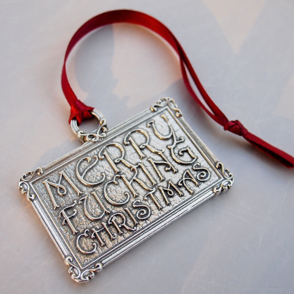 F Word Christmas Ornament