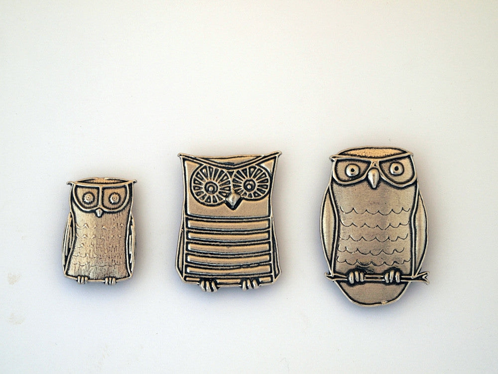 Three Owl Magnets