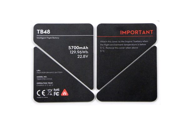 TB Battery Stickers - Drone Shop Canada - Professional UAV Sales Repair