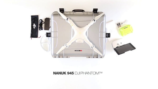 NANUK 945 Professional Case for DJI Phantom 3 / 4 / 4 Pro / 4 Pro + - Drone Shop Canada - Professional UAV Sales Repair