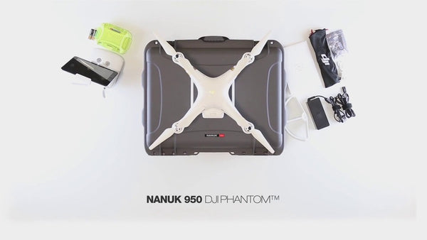 Nanuk 950 Case for DJI Phantom Series w/ Wheels and Handle - Drone Shop Canada - Professional UAV Sales Repair