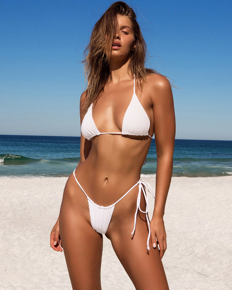 iixiist Bangalow Bottom Coconut white bikini string tie adjustable swimwear Frankii Swim Frankie Swim Frankie Swimwear