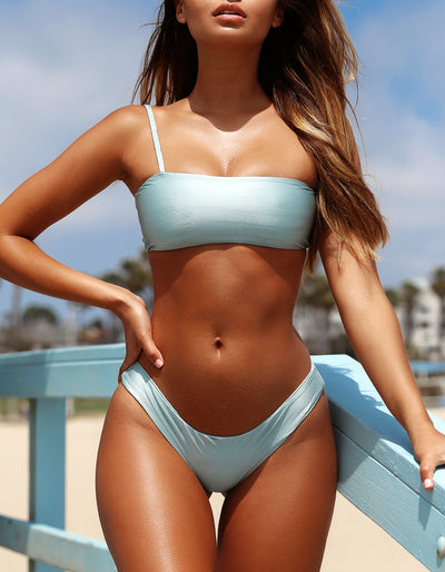 frankie swimwear frankii swim salvador bottoms cannes crop mint blue ribbed metallic seamless bikini frankieswimwear frankieswim