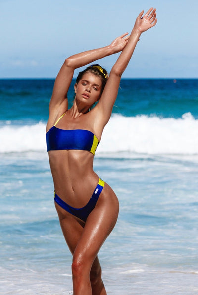 iixiist Barbados Bottom Cobalt Blue Two Tone Bikini Seamless Metallic Frankii Swim Frankie Swim Frankie Swimwear