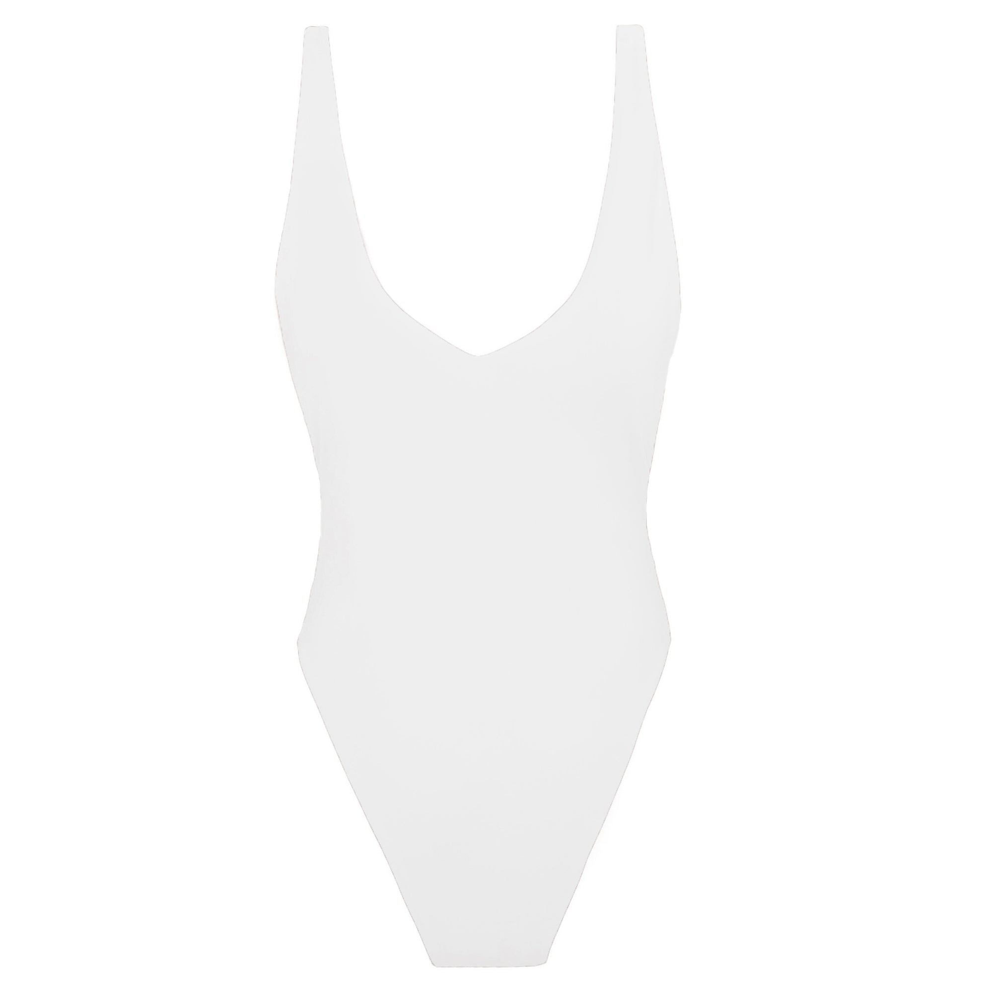 IIXIIST Bone McPherson Bodysuit white seamless lycra one-piece Frankii Swim Frankie Swimwear