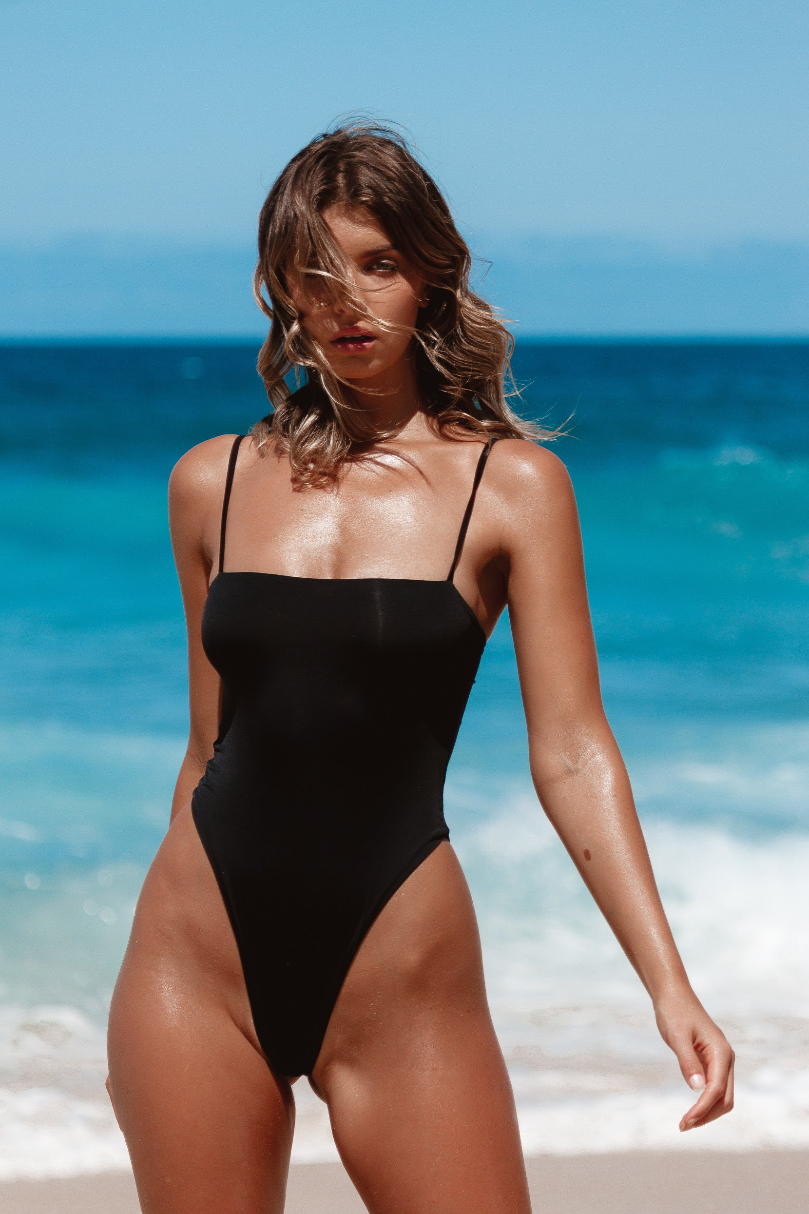 IIXIIST Joanna Bodysuit Midnight Black Seamless Swimwear One Piece Frankii Swim Frankie Swimwear