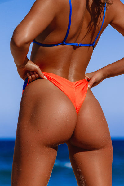 iixiist Tangerine Barbados Bottom Orange Two Tone Bikini Metallic Seamless Swimwear Frankii Swim Frankie Swim Frankie Swimwear