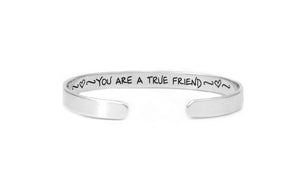 Personalized Friendship Jewelry, Sterling Silver Cuff Bracelet