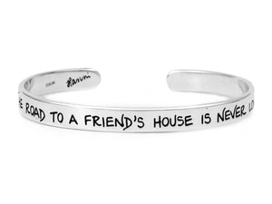 A Friend's House Friendship Jewelry, Sterling Silver Cuff Bracelet