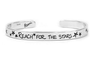reach for the stars sterling silver cuff bracelet