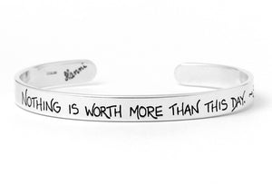 nothing is worth more than this day goethe quote jewelry