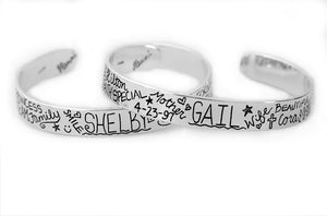 personalized mother daughter bracelets graffiti style by hanni