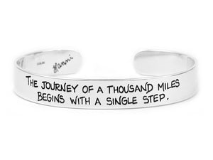 The journey of a thousand miles begins with a single step recovery bracelet