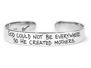 Mothers Cuff Bracelet | Personalized Jewelry for Mom