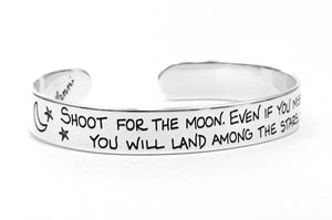 shoot for the moon silver bracelet, graduation gift