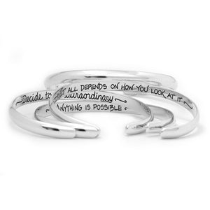 Personalized Hidden Message Jewelry Sterling Silver Cuff Bracelet