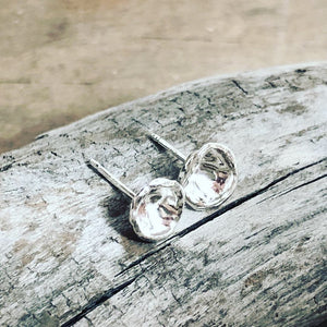 "Silver ""Droplet"" Post Earrings"