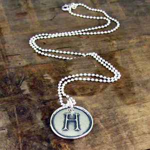initial pendant sterling silver by hanni