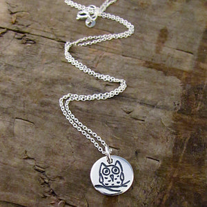 owl charm protect this woman healing necklace hope