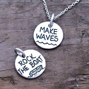 make waves rock the boat charm graduation gift