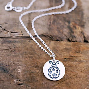 love bug pet name pendant silver