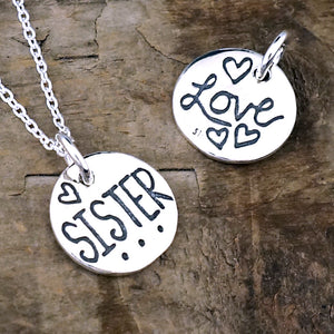 sister necklace wedding jewelry