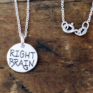 right brain left brain sterling silver charm artist scientist jewelry
