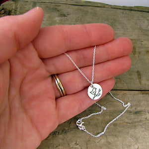 silver bird charm hope necklace sterling recovery jewelry by hanni